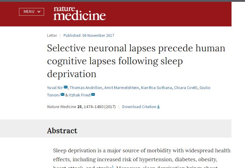 falta de sono faz mal ao cerebro como o alcool